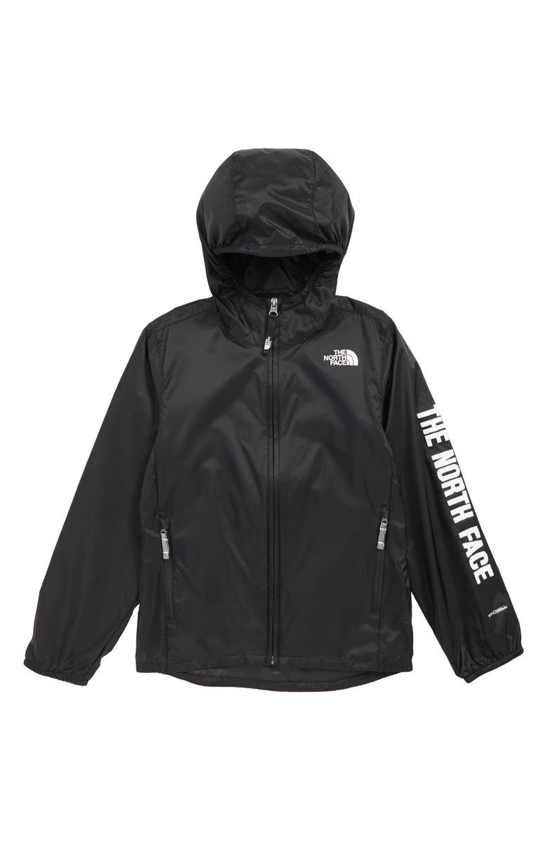 THE NORTH FACE Flurry Water Repellent Hooded Windbreaker, Main, color, 001