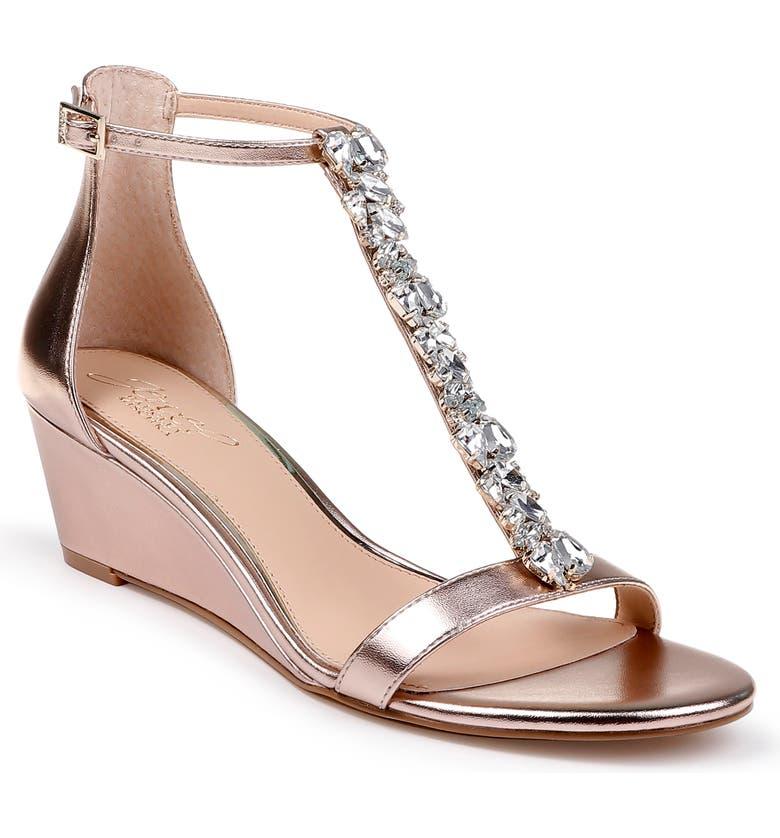 937476708 Jewel Badgley Mischka Darrell Embellished Wedge Sandal (Women ...