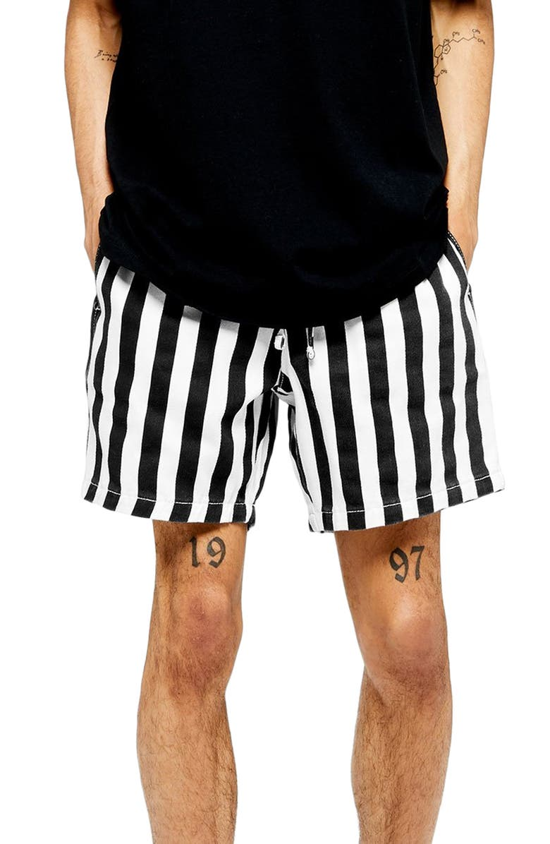 Topman Classic Fit Stripe Pull On Shorts