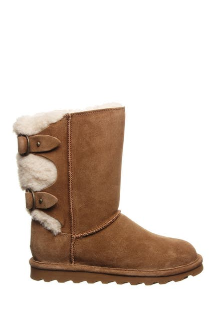 Image of BEARPAW Eloise Faux Fur Buckled Strap Boot