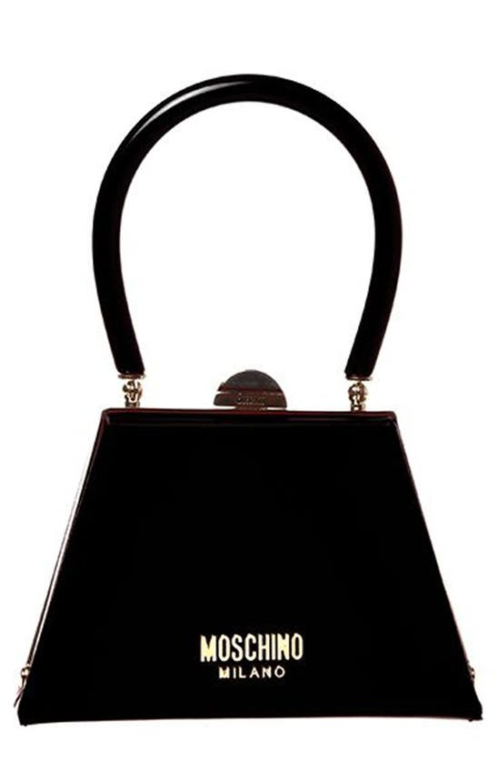 MOSCHINO Leathers LEATHER FRAME BAG