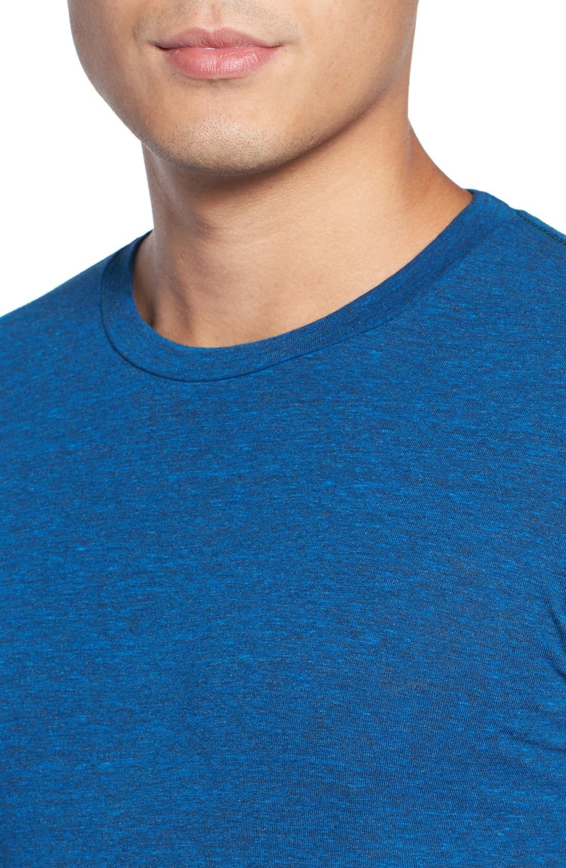 ,                             Triblend Scallop Long Sleeve Crewneck T-Shirt,                             Alternate thumbnail 34, color,                             420