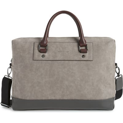 Ted Baker London Pitza Faux Leather Document Bag - Grey