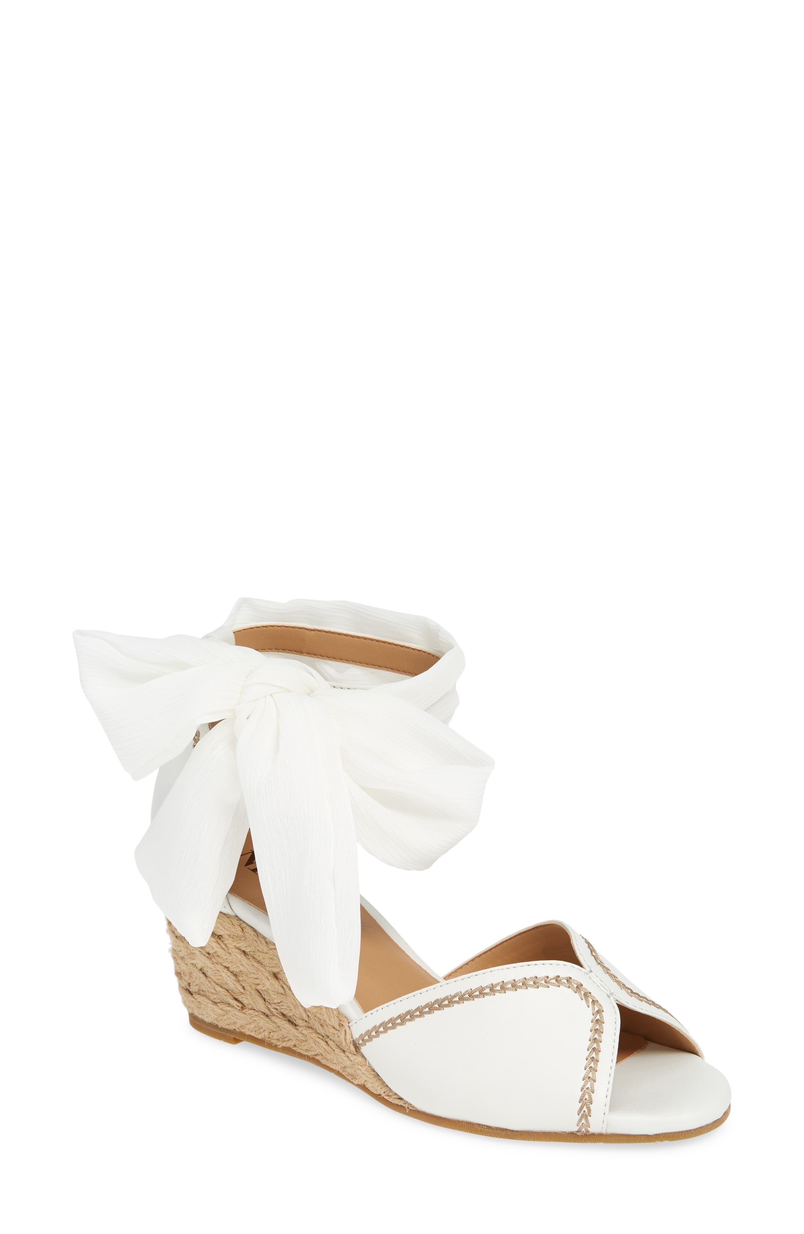 Nic+Zoe Brynn Espadrille Wedge Sandal- White