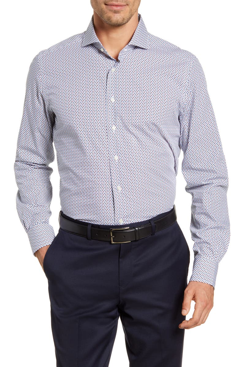 EMANUEL BERG Modern Fit Button-Up Shirt, Main, color, MUTLI WHITE