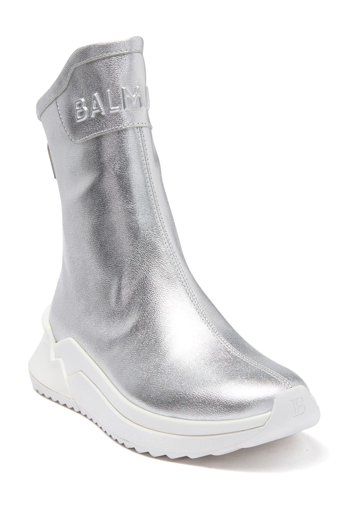 Image of Balmain B-Glove Metallic Sneaker Boot