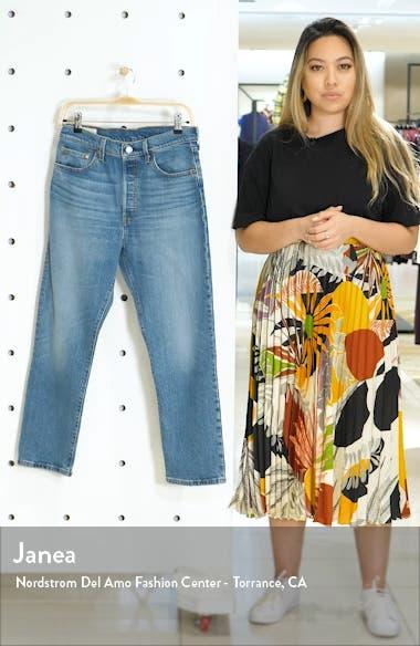 501<sup>®</sup> High Waist Crop Straight Leg Jeans, sales video thumbnail