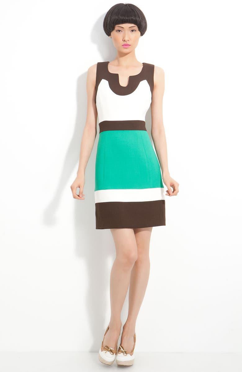 MILLY 'Imara' Colorblock Sheath Dress, Main, color, 443