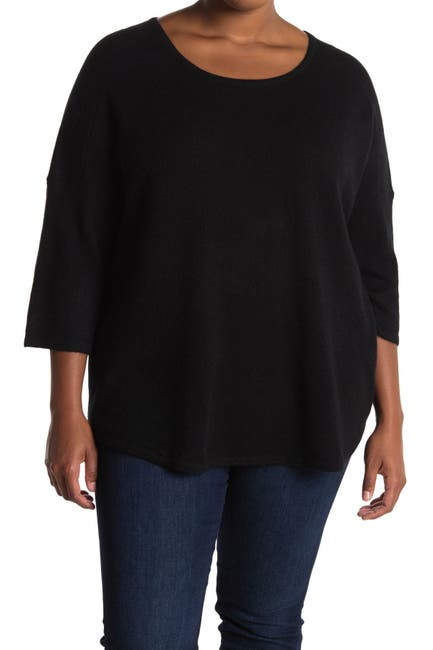 Image of GRIFFEN CASHMERE Pleated Back Crew Neck Cashmere Sweater