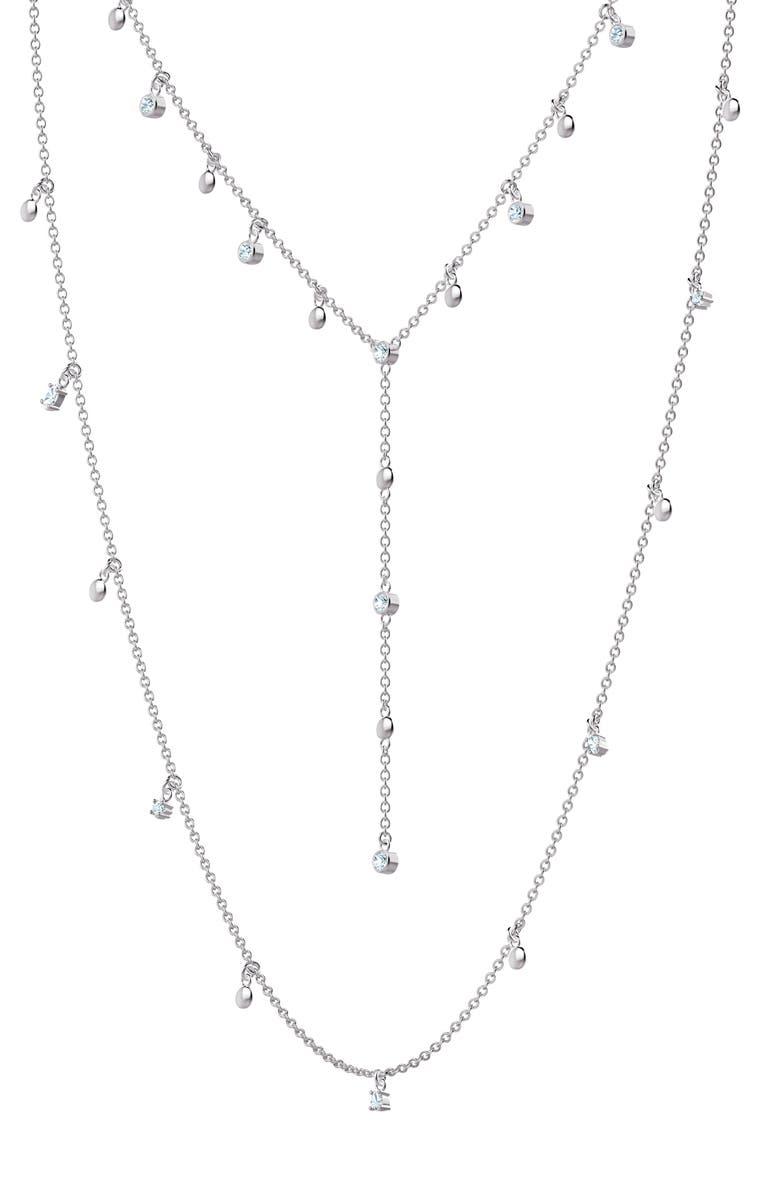 SWAROVSKI x Penélope Cruz Moonsun Set of 2 Long Necklaces, Main, color, SILVER