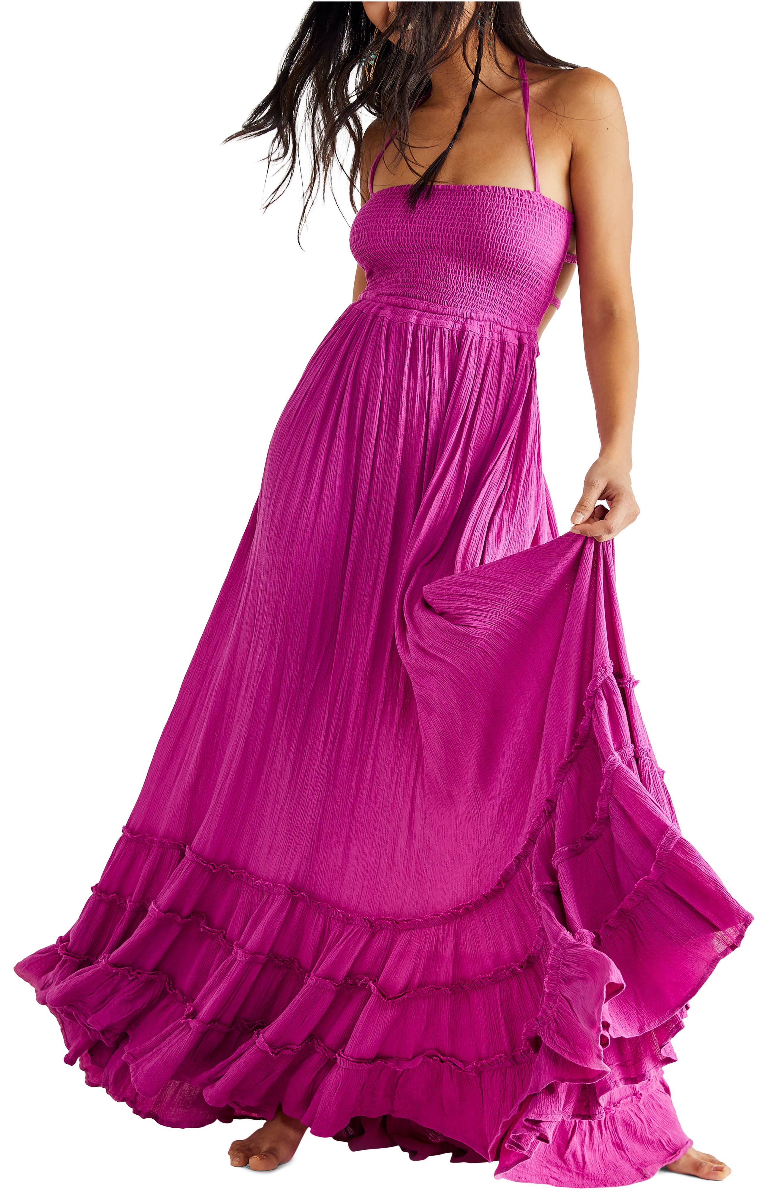 Extratropical Smocked Maxi Dress