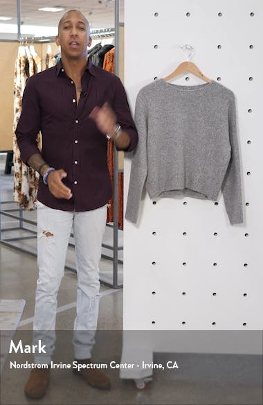 Oversize Boxy Cashmere Crewneck Sweater, sales video thumbnail