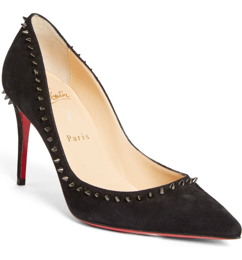 CHRISTIAN LOUBOUTIN Anjalina Pump, Main, color, BLACK SUEDE