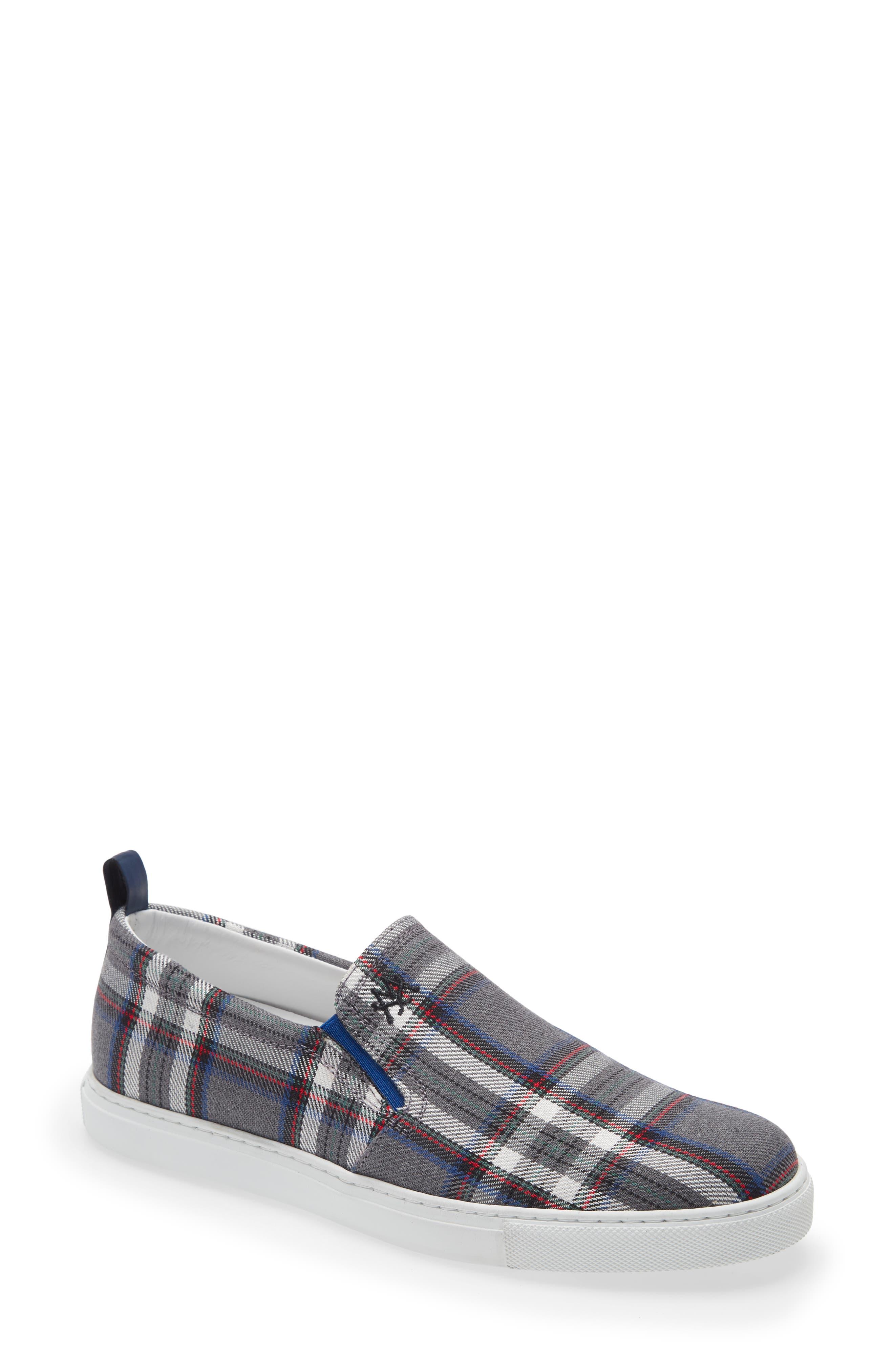 Plaid Slip-On Sneaker