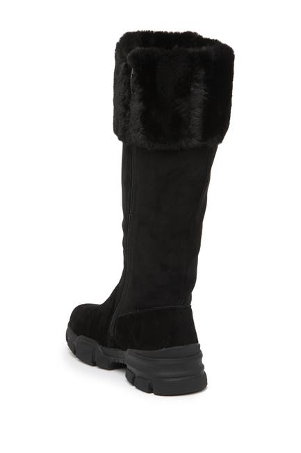 Image of Religious Comfort Stranger Faux Fur Cuff Suede Boot