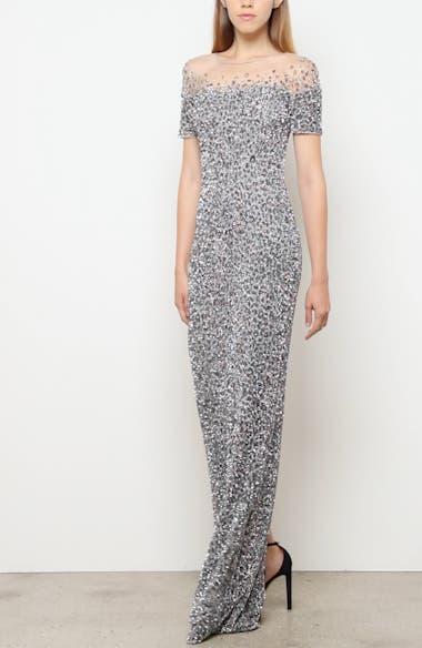 Snow Leopard Crunchy Sequin Gown, video thumbnail