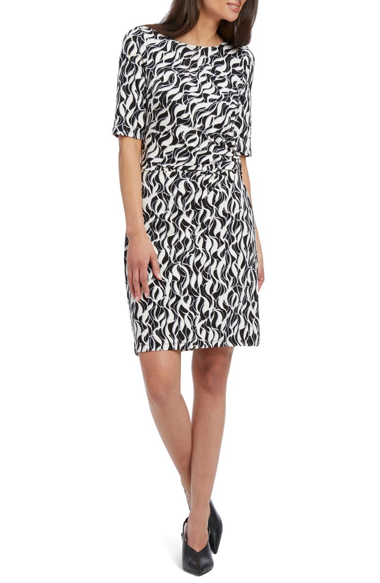 NIC+ZOE Lively Twist Sheath Dress, Main, color, MULTI