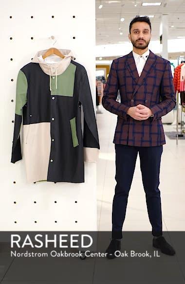 Patchwork Waterproof Hooded Raincoat, sales video thumbnail