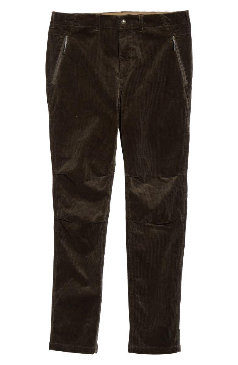 BEAMS Cotton Blend Corduroy Pants, Main, color, OLIVE/ OD