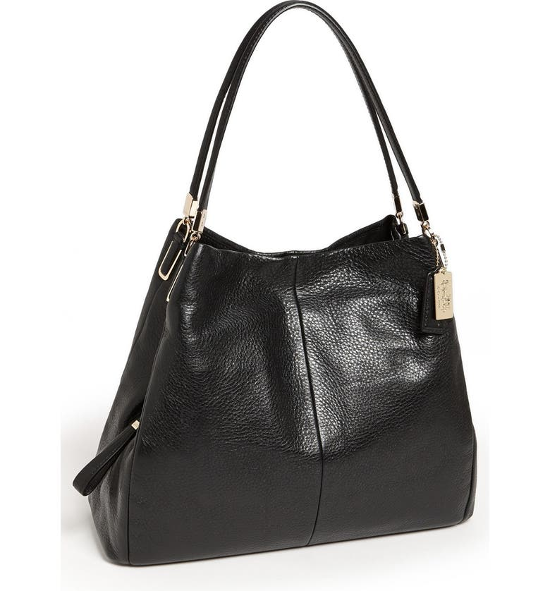 COACH 'Small Madison Phoebe' Leather Shoulder Bag, Main, color, 001