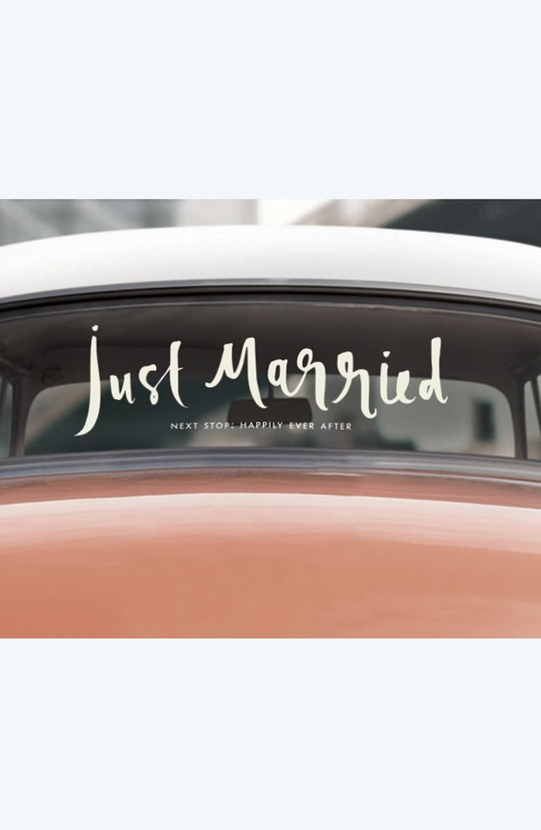 KATE SPADE NEW YORK 'just married' decal, Main, color, 100