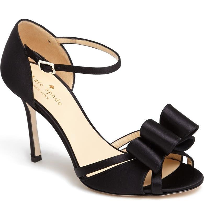 KATE SPADE NEW YORK 'ivela' ankle strap sandal, Main, color, 001
