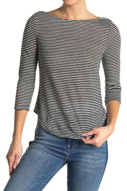 Image of FRAME Weekender Stripe Print T-Shirt