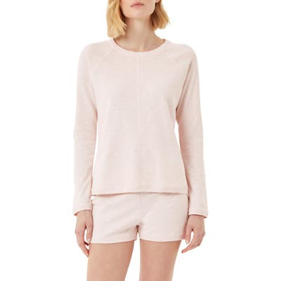 The White Company French Terry Pullover, Pink