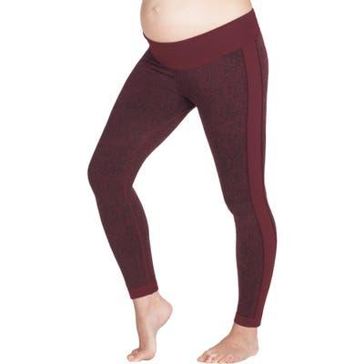 Modern Eternity Activewear Maternity Leggings, Burgundy