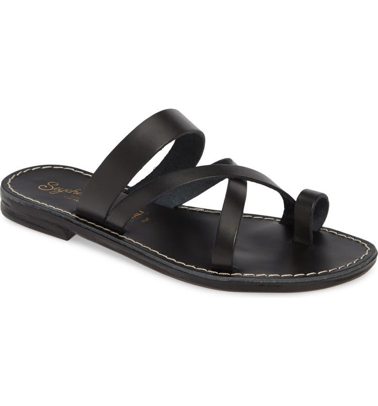 SEYCHELLES So Precious Sandal, Main, color, BLACK LEATHER