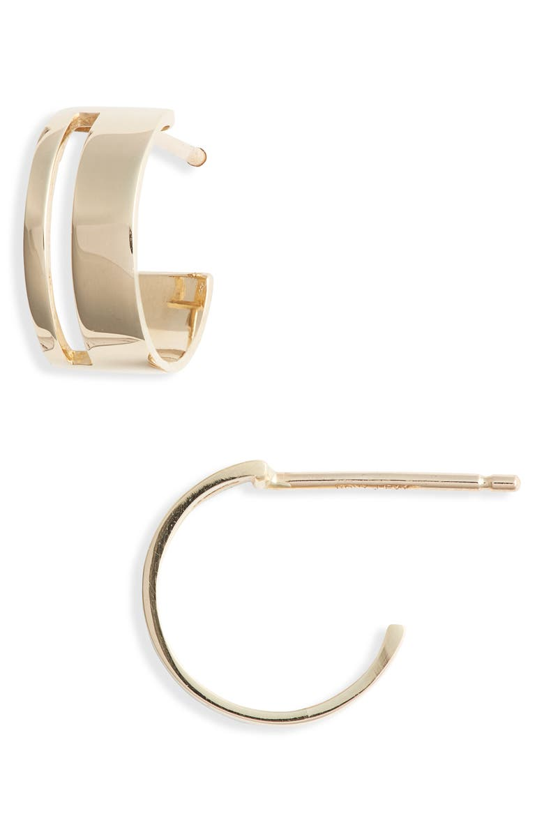 Split Hoop Earrings by Bony Levy