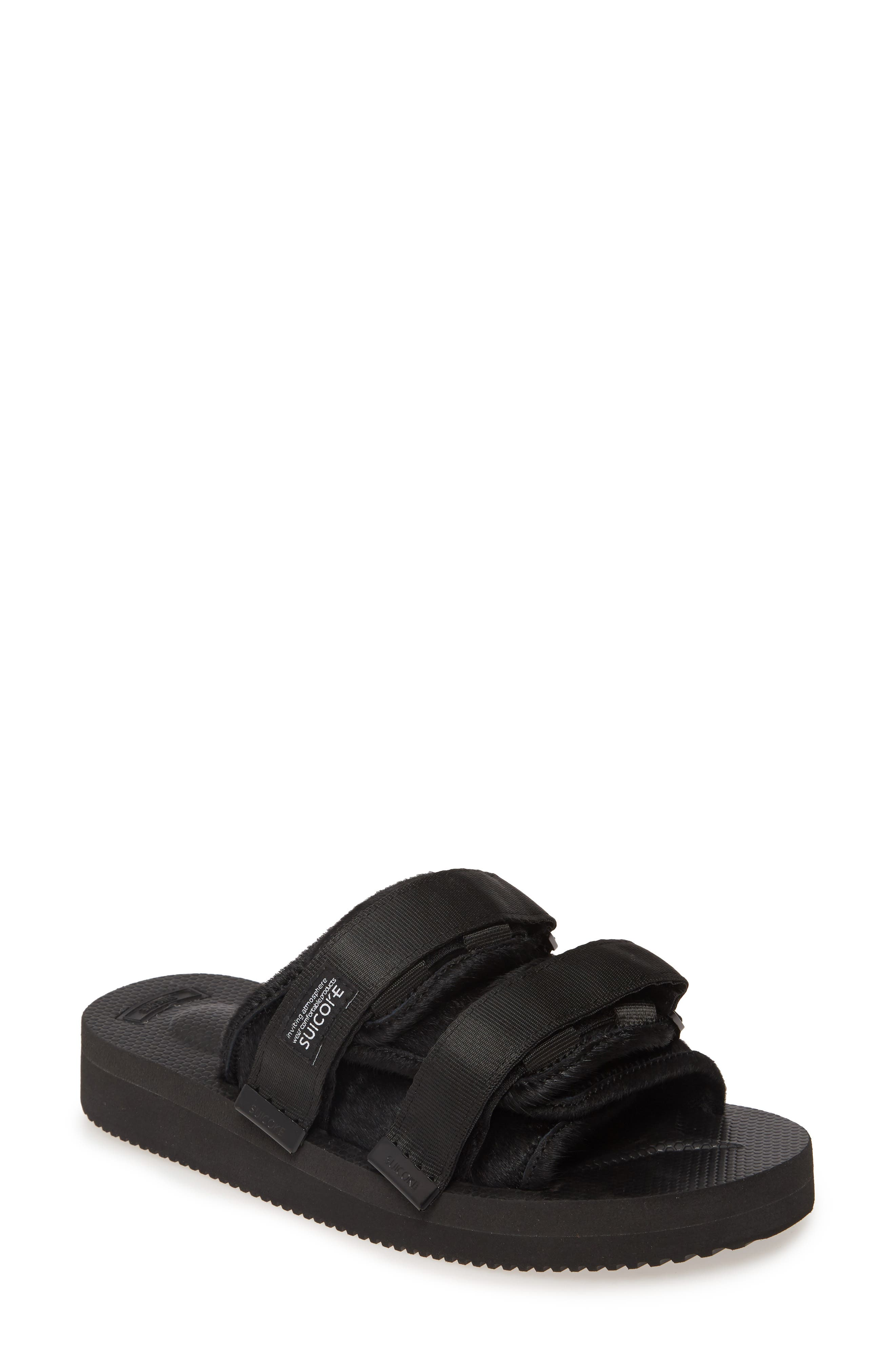Suicoke Moto VHL Genuine Calf Hair Slide Sandal (Unisex)