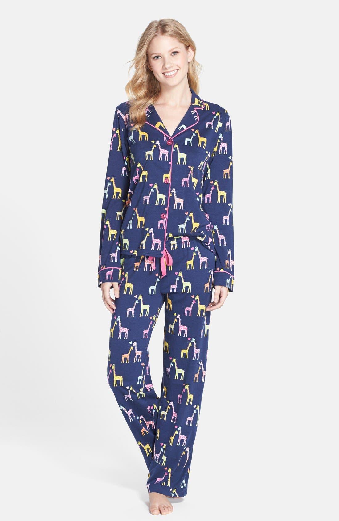 ,                             Print Jersey Pajamas,                             Main thumbnail 19, color,                             410