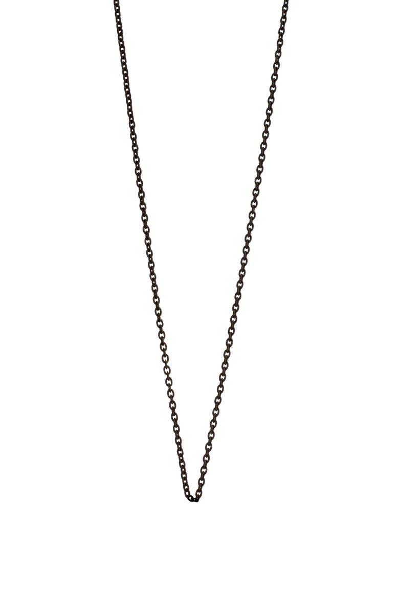 MONICA RICH KOSANN Black Steel Chain, Main, color, 040