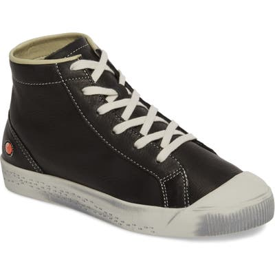 Softinos By Fly London Kip High Top Sneaker - Black