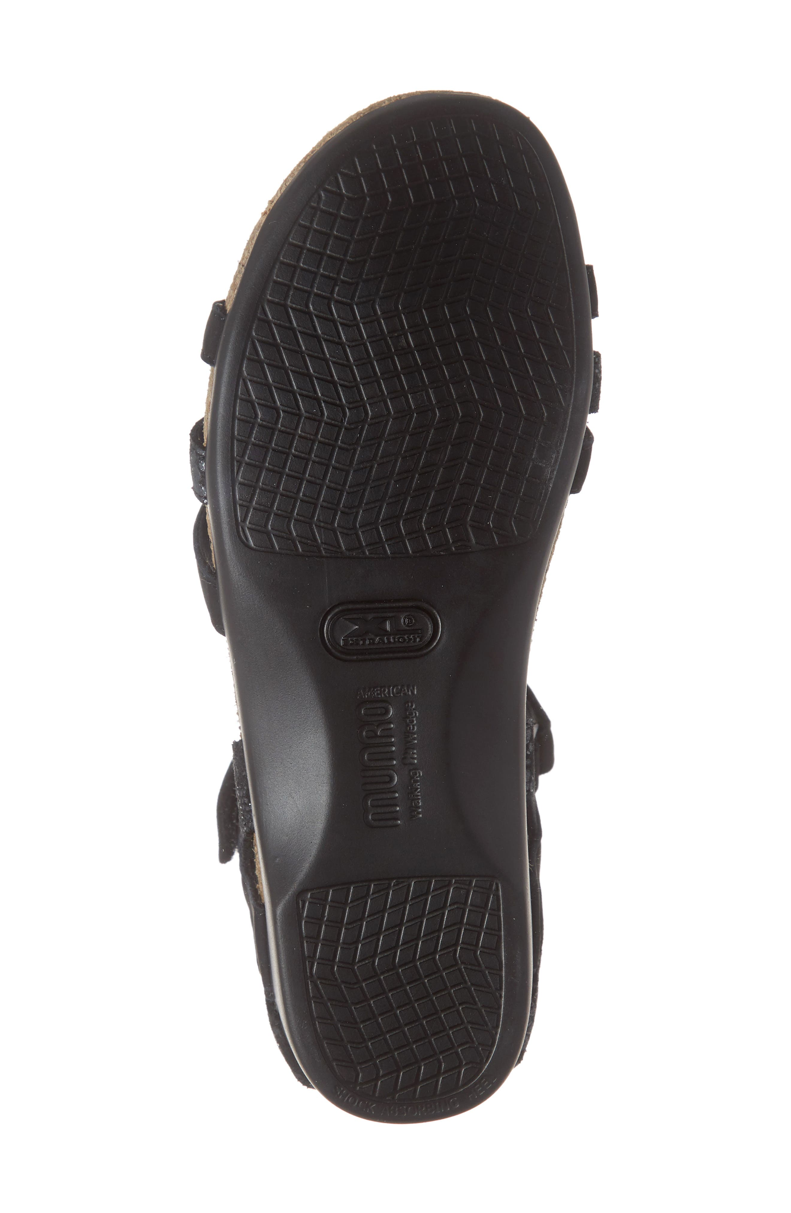 ,                             Summer Sandal,                             Alternate thumbnail 6, color,                             BLACK COMBO NUBUCK