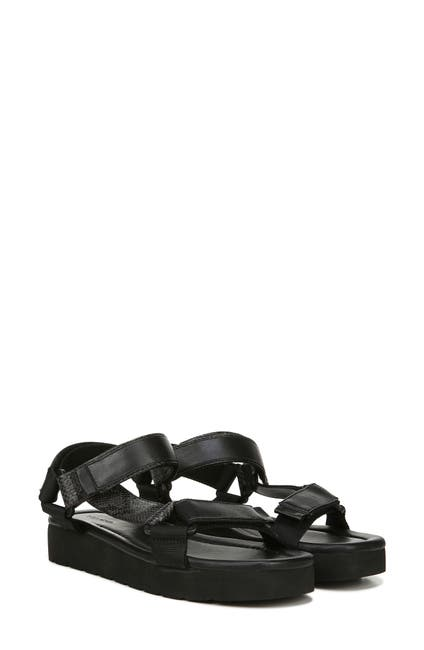 Image of Vince Carver Leather Platform Sport Sandal