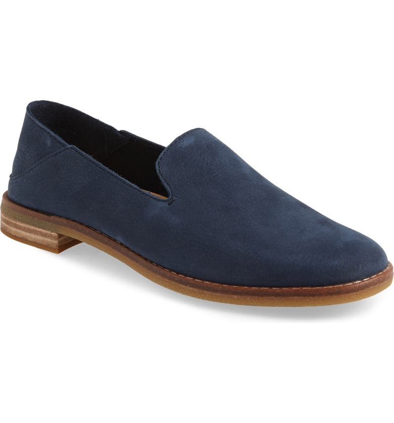 SPERRY Seaport Levy Flat, Main, color, NAVY LEATHER