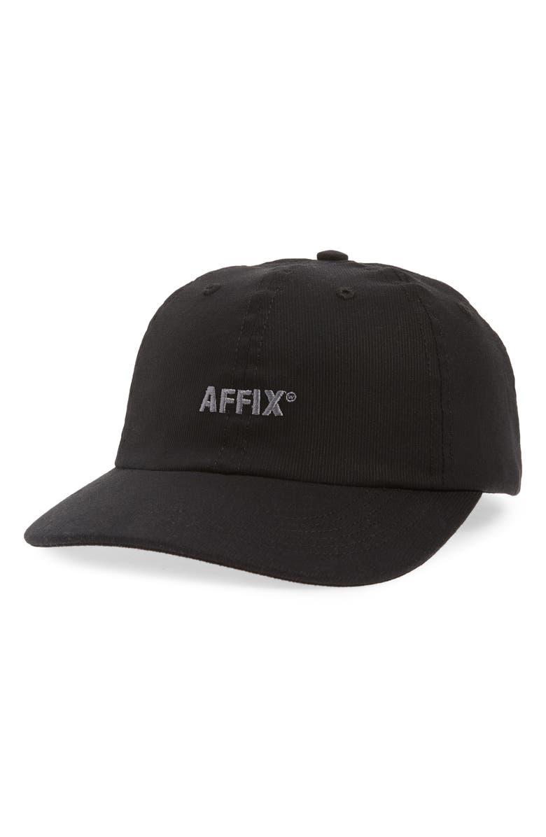 AFFIX Logo Embroidered Baseball Cap, Main, color, 001