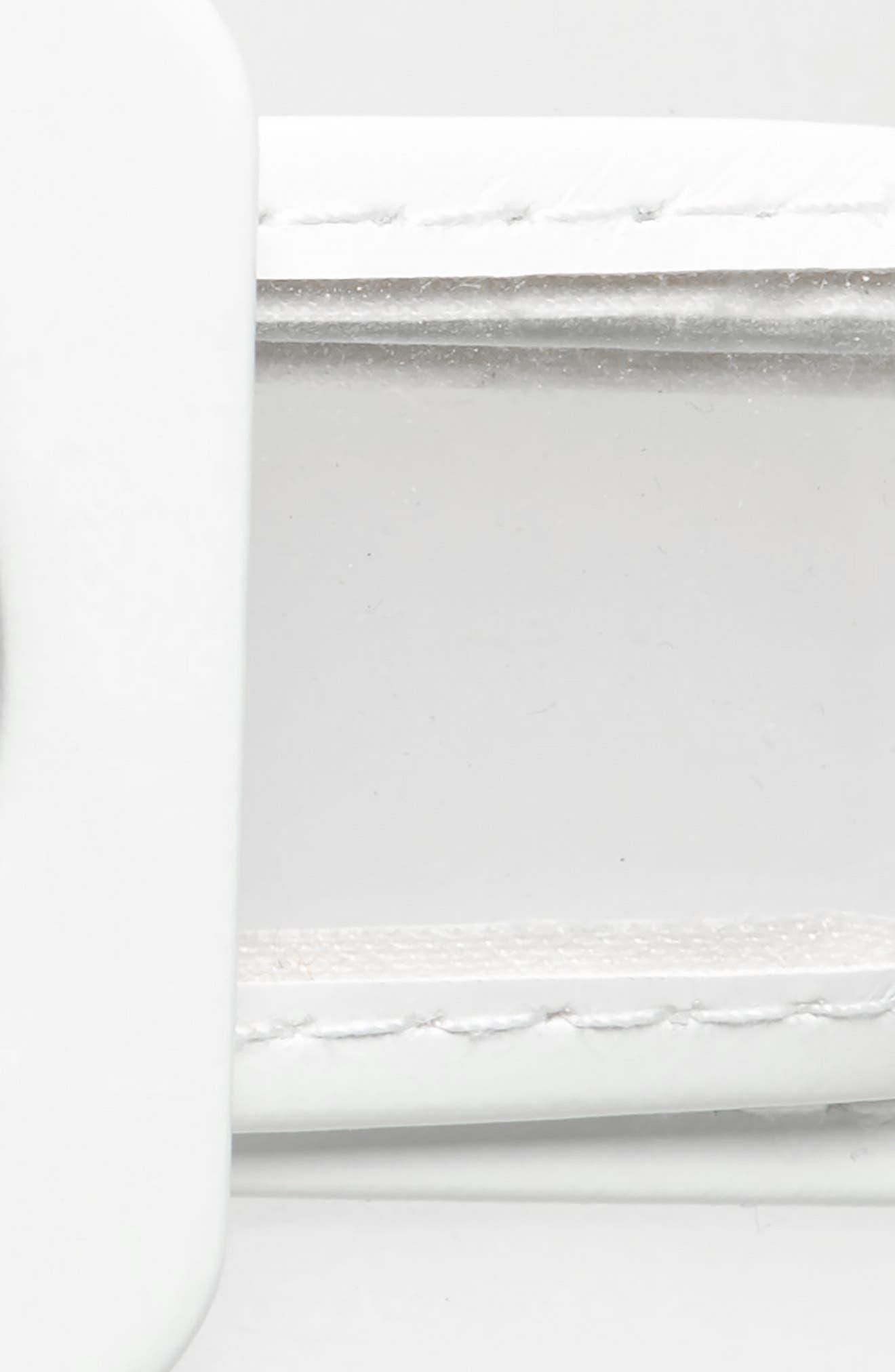 ,                             Transparent Belt,                             Alternate thumbnail 3, color,                             WHITE