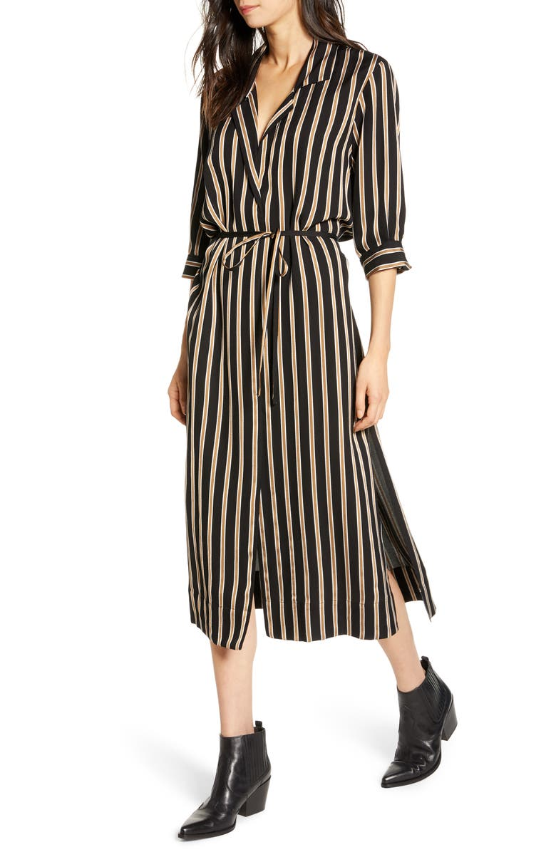 7 FOR ALL MANKIND<SUP>®</SUP> 7 For All Mankind Maxi Shirtdress, Main, color, MIDNIGHT NAVY/ WHITE STRIPE
