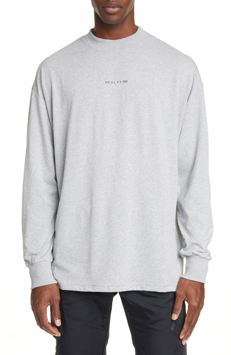 1017 ALYX 9SM Visual Long Sleeve T-Shirt, Main, color, GREY
