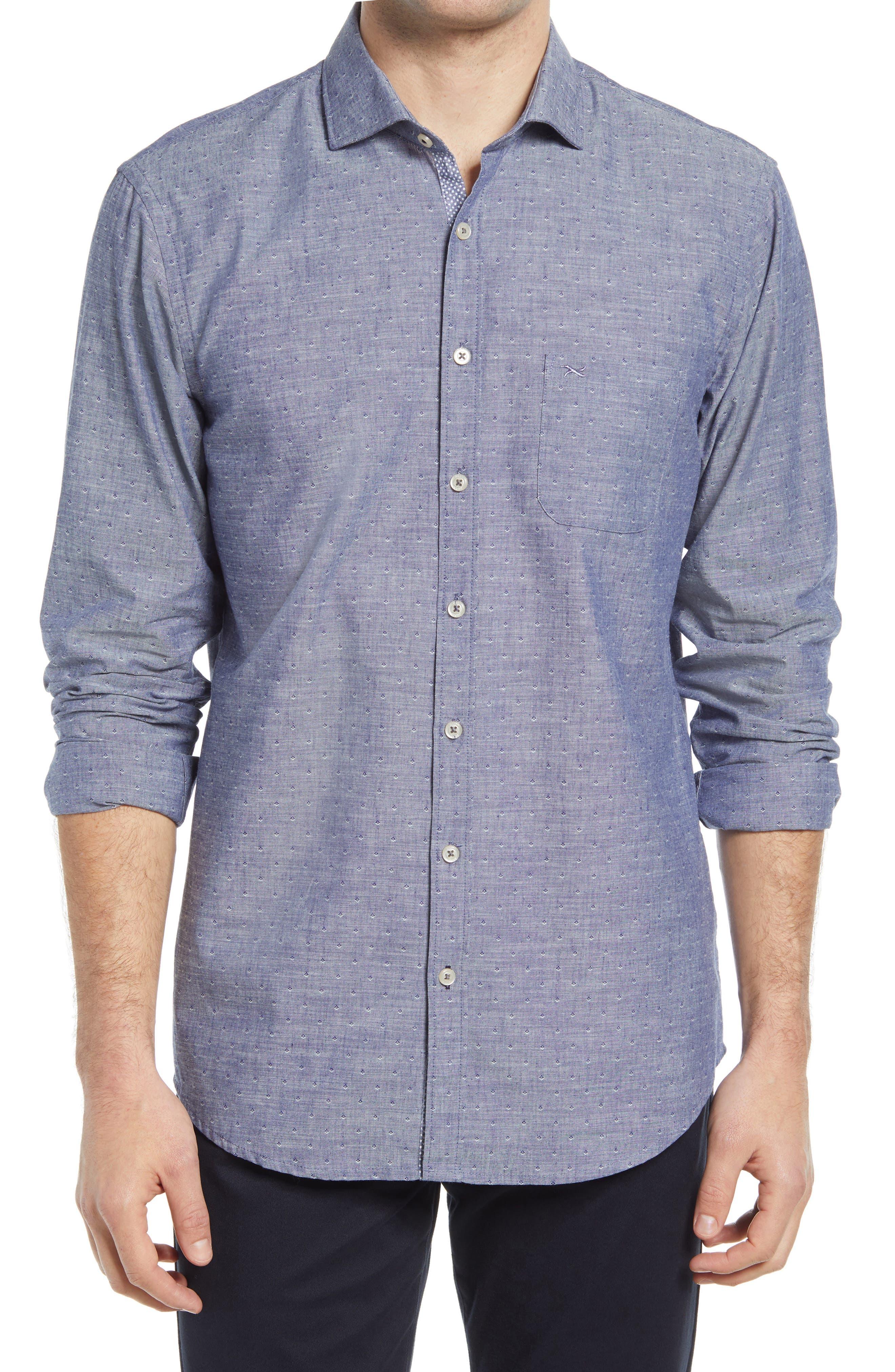 Harold Regular Fit Solid Cotton & Linen Button-Up Shirt