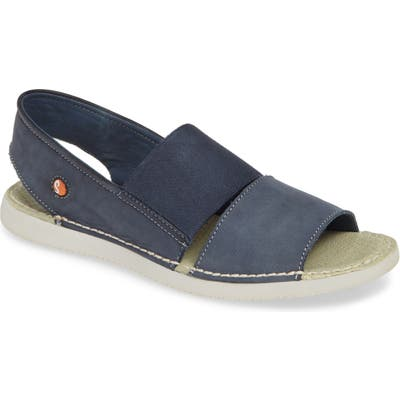 Softinos By Fly London Tai Slingback Sandal, Blue