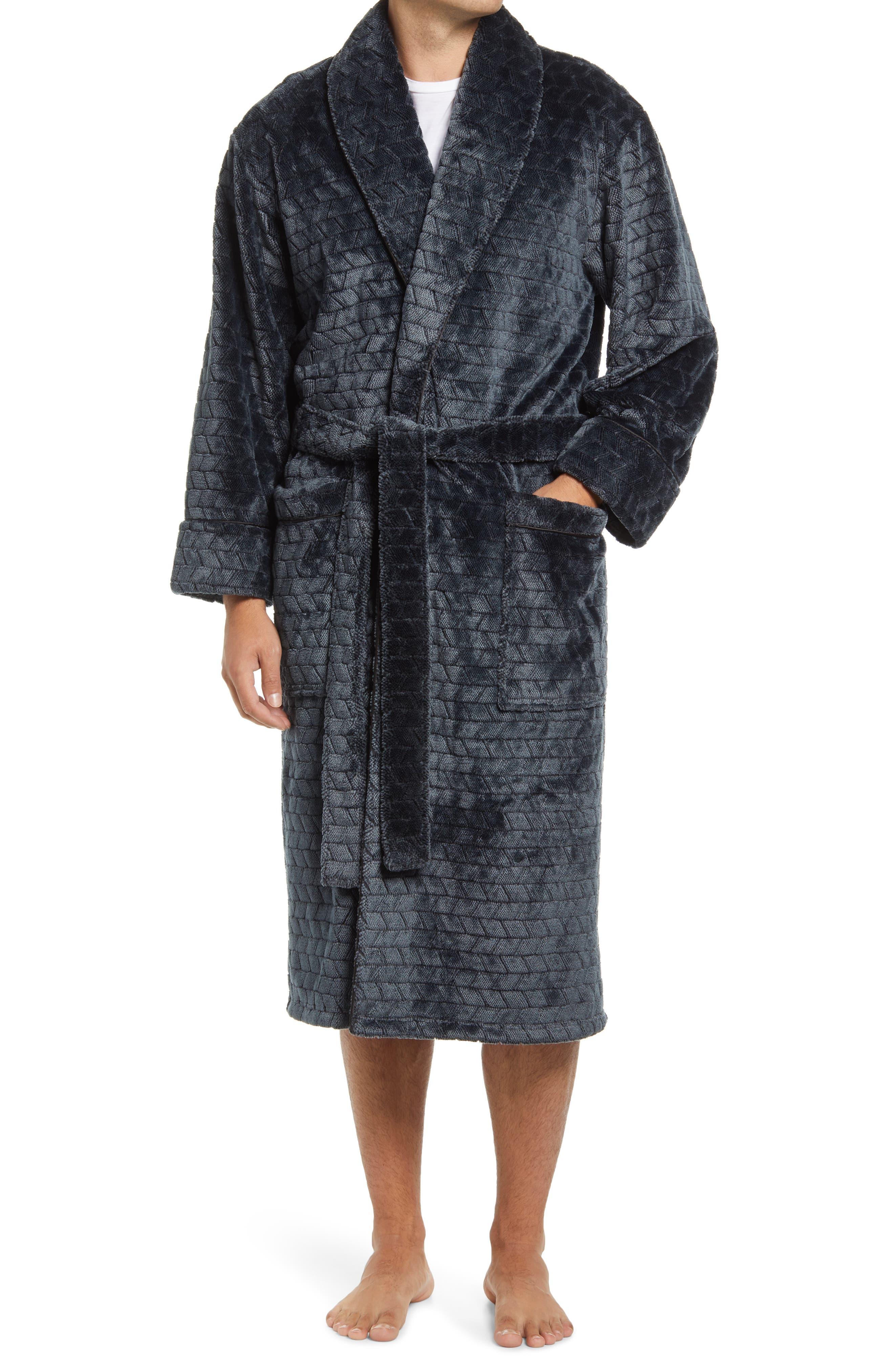 Jacquard Plush Robe