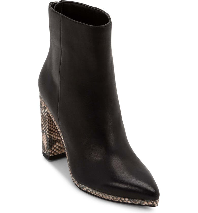 DOLCE VITA Brodie Bootie, Main, color, BLACK LEATHER