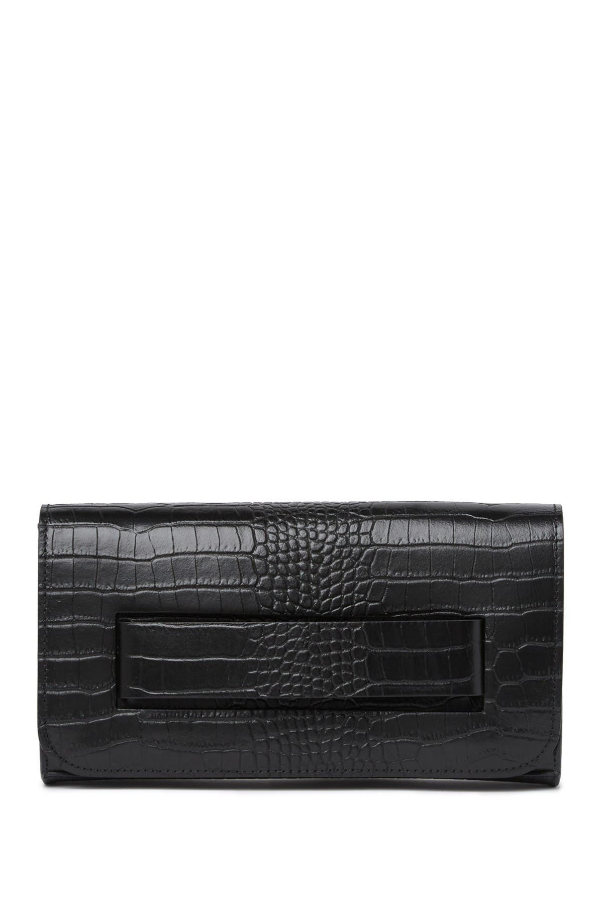 Image of Scui Studios Croc Embossed Leather Clutch