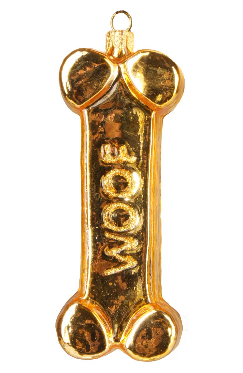 NORDSTROM AT HOME Dog Bone Ornament, Main, color, GOLD