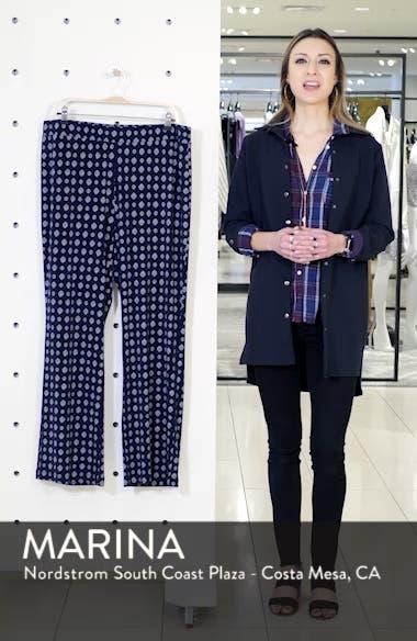 Textured Foulard Flare Pants, sales video thumbnail