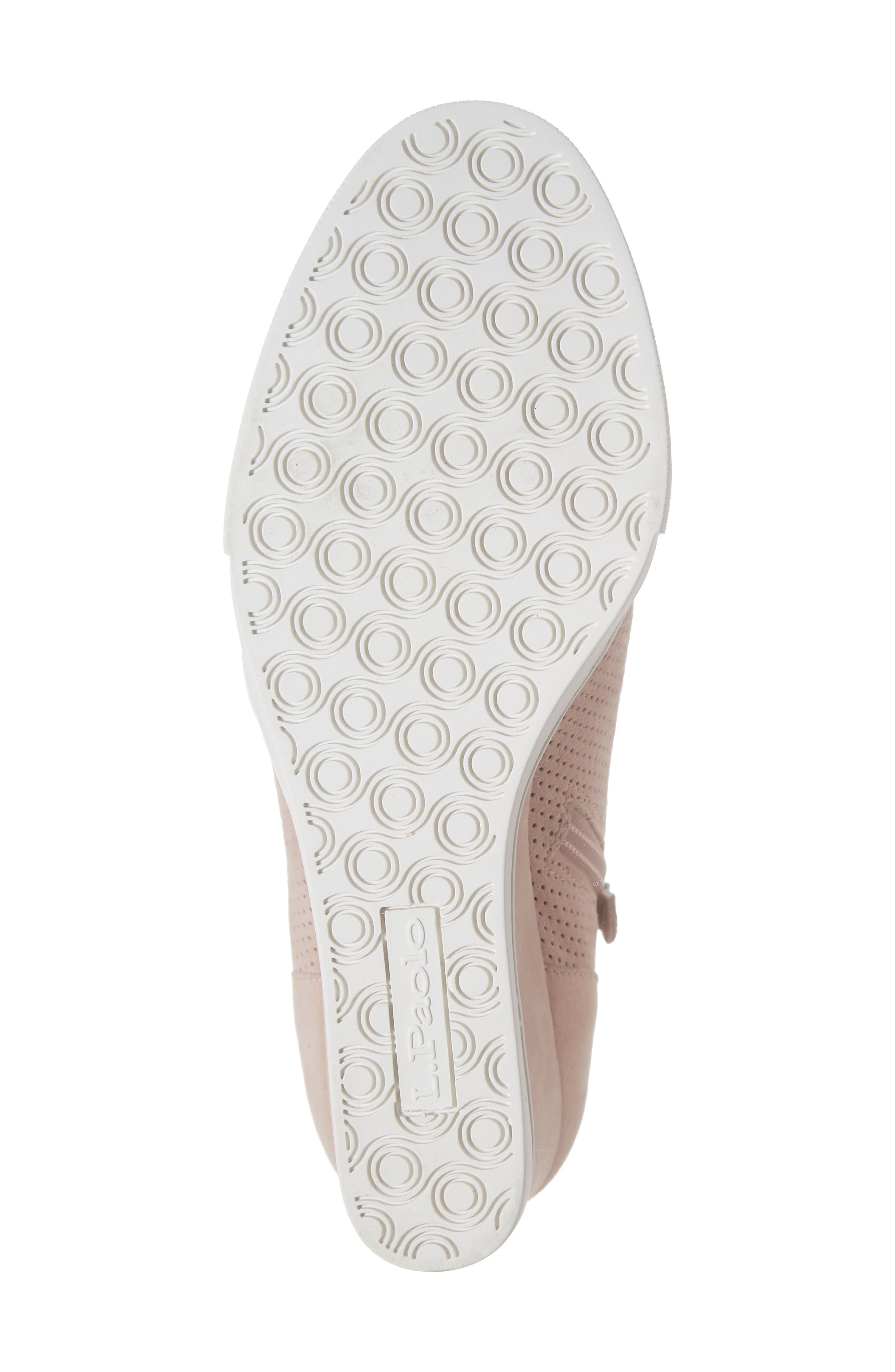 ,                             Felicia Wedge Bootie,                             Alternate thumbnail 6, color,                             BLUSH PERFORATED SUEDE